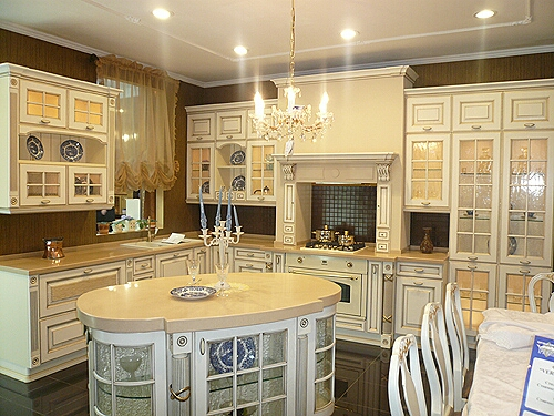 Russian oak kitchen cabinets
