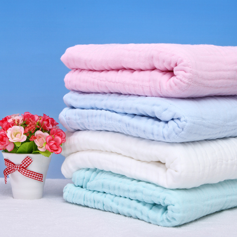 Ultra Soft Breathable 6 layers Gauze Brand Baby Blankets Swaddling For Babies Quilts 100Cotton Infants Blankets Baby 105cm*105cm ...