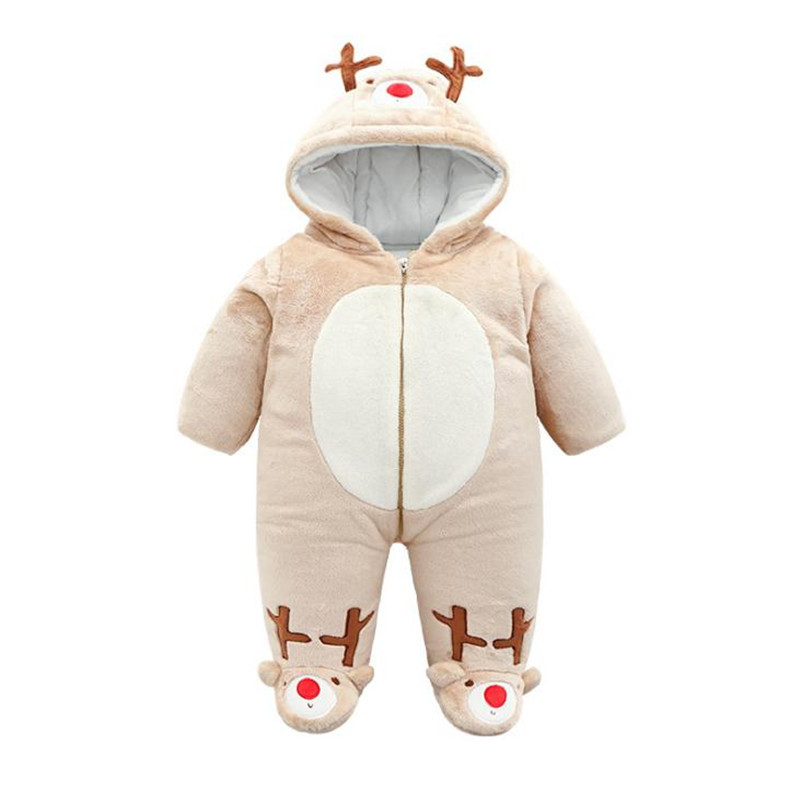 Warm Hooded Baby Winter Clothes Tiny Cotton Toddler Romper Full Sleeve Baby Winter Romper|Rompers| |  - title=