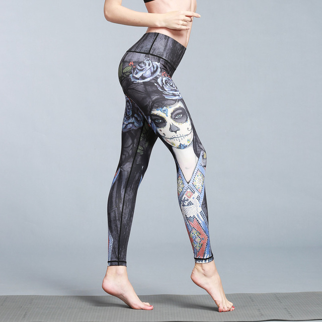 Beautiful Slim Print Quick Dry  Sports Leggings
