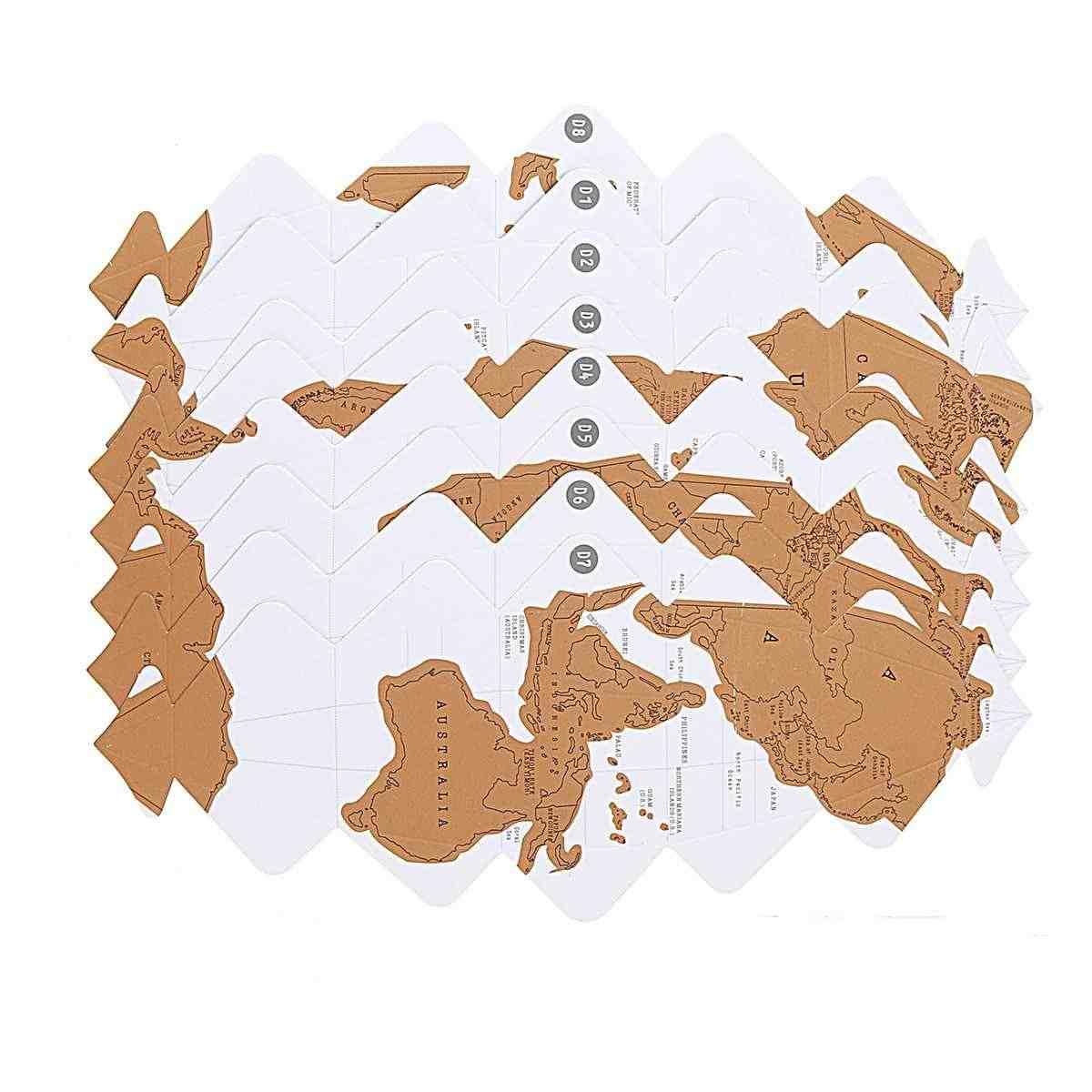 DIY скретч Глобус 3D стерео сборка глобус Карта мира путешествия малыш детская игрушка подарок