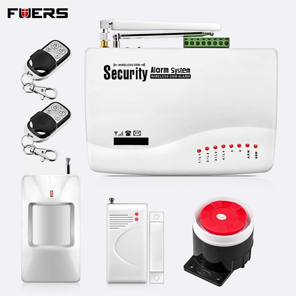 Système d'alarme GSM pour système de sécurité à domicile avec capteur de porte à distance en métal double antenne alarme antivol système d'alarme à domicile signalisation