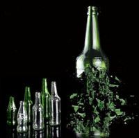 Self Explosion Bottle Transparent Green Beer Bottle Middle Size 6 Pieces Magic Trick Stage Magic Close