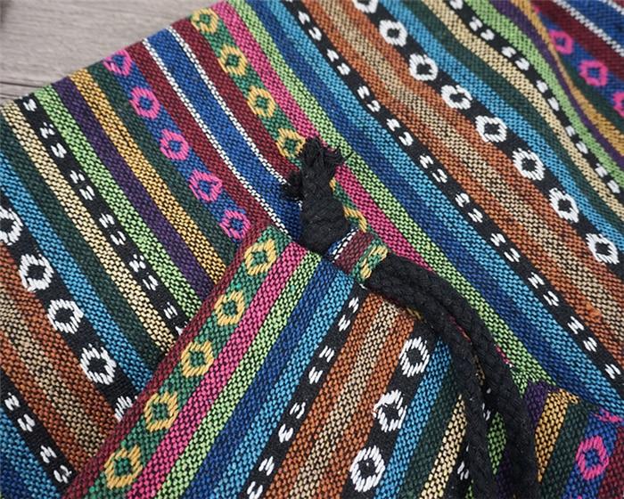 HTB1Z1LYdv5TBuNjSspcq6znGFXaD LilyHood Women Fabric Backpack Female Gypsy Bohemian Boho Chic Aztec Ibiza Tribal Ethnic Ibiza Brown Drawstring Rucksack Bags