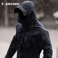 s.archon M65 Army Clothes Tactical Windbreaker Men Winter Autumn Jacket Waterproof Wearproof, Windproof, Breathable