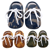 2017 Baby Children Pediatric Comfortable Hard Shoes Camouflage Shoes Soft Sole Sneaker Crib Shoes Baby First Walkers