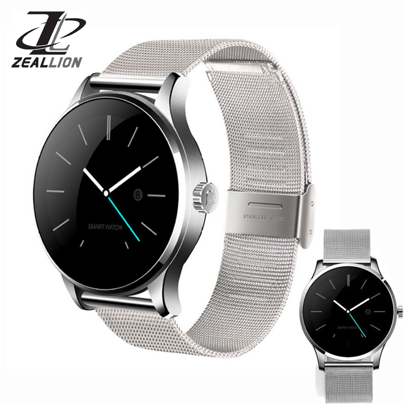 цена на ZEALLION Smart Watch K88H Clock Sync Notifier Support Heart Bluetooth 4.0 Connectivity Pedometer for Android iOS Smartwatch