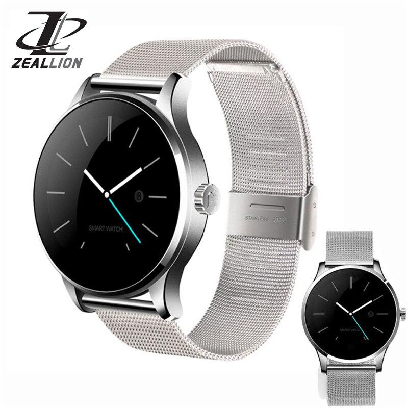 Zeaillon montre intelligente K88H horloge Sync notifiant soutien coeur Bluetooth 4.0 connectivité podomètre pour Android iOS Smartwatch
