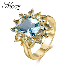 Best-selling new standard 925 Sterling Silver Lady ring high quality sapphire fashion classic engagement anniversary gift party