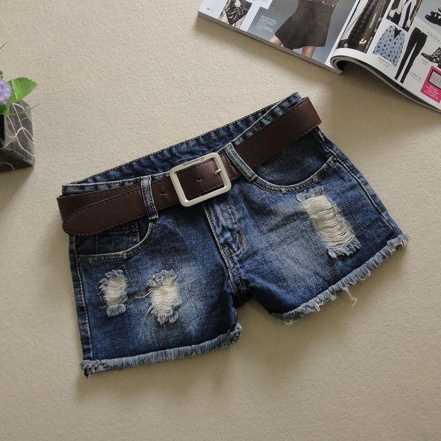 2016 pantalones vaqueros del verano para mujer borla blanqueada washed short jeans pantalones cortos mujer shorts agujero más tamaño pantalones cortos de mezclilla pantalones vaqueros