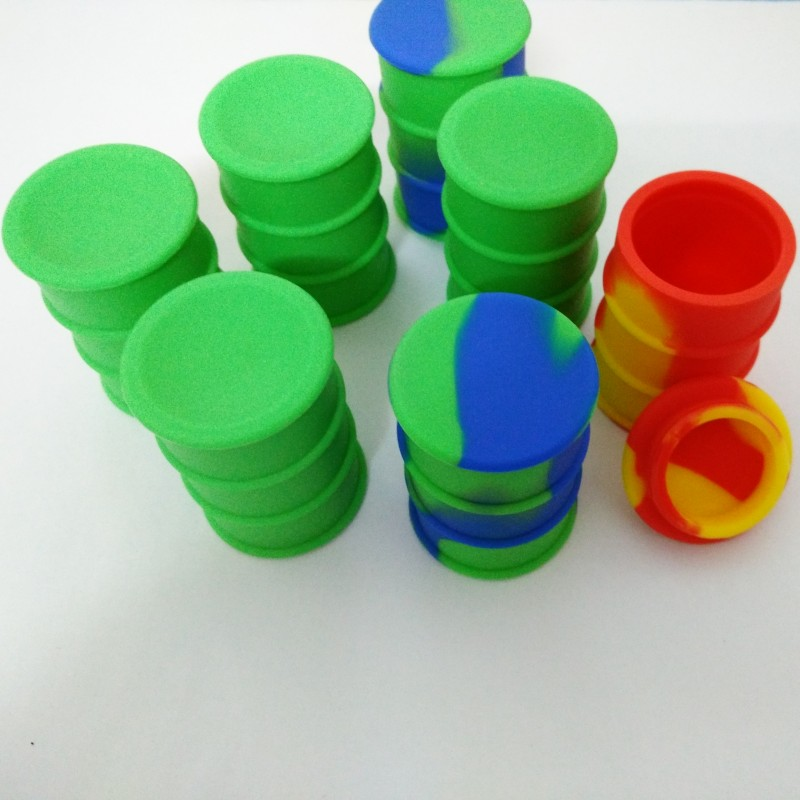 26 Ml Silicone Oil Drum Barrel Silicone Jars For Wax Bho Oil Vaporizer Silicon Jars Dab Wax Container E Cigarette