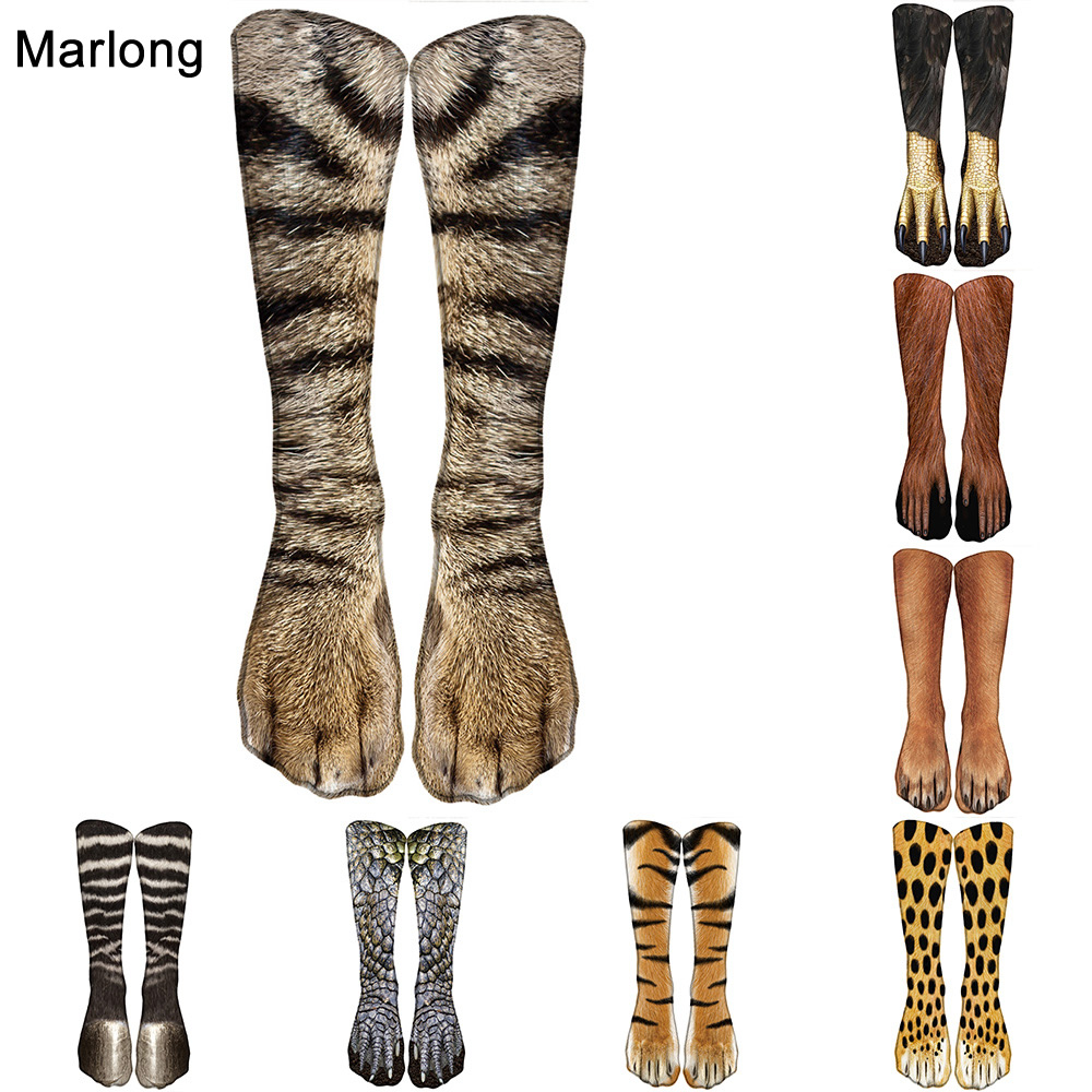 Marlong Cotton Indoor Slippes Women Funny Print Animal Socks Kawaii Cute Casual Happy Fashion High Ankle Socks For Men Women 3d print unicorn socks girls kawaii ankle licorne chaussette femme calcetines mujer cute emoji art happy kids long cotton socks