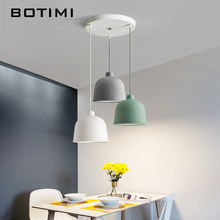BOTIMI Colorful LED Pendant Lights For Dining Room Resin Lampshade Hanging Lamp E27 Kitchen Lighting Adjust Restaurant Luminaire botimi colorful pendant lights for dining nordic led pendant lamp with lampshade single e27 bar light indoor hanging lamps