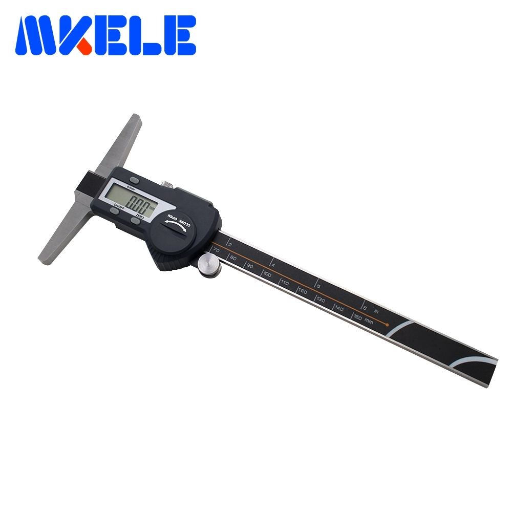 0-150mm Double Hook Digital Depth Vernier Caliper High-Accuracy Stainless Steel Electronic Digital Caliper IP54 Waterproof 0 300mm high accuracy digital electronic vernier caliper lcd micrometer digital caliper stainless steel ip54 waterproof