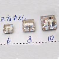 All Sizes Crystal Clear White Color Glass Long Rectangle Sew On Flatback Rhinestones With 2 Holes