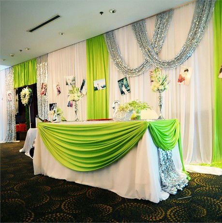 152M Unit 20colors Pearlizing Ice Silk Curtain Wedding Birthday Party Baby Shower Decoration Satin Fabric In DIY Decorations From Home Garden On