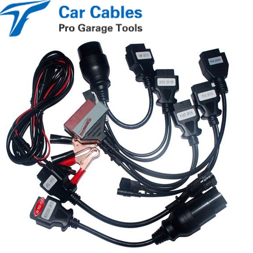 Prix pour 8 pcs ensemble complet de voiture câble pour vd tcs cdp pro plus câbles de voiture pour multidiag et wow cdp snooper