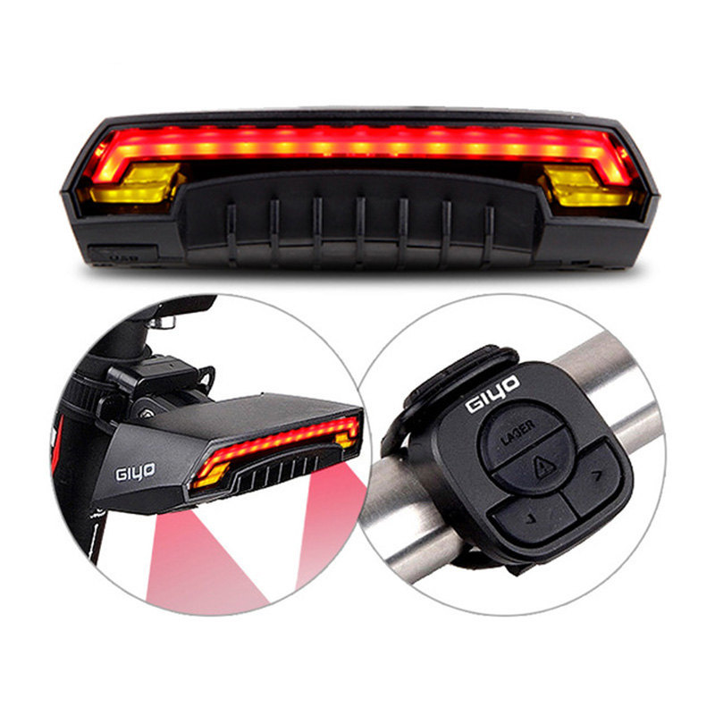 USB Rechargeable LED Laser Bicycle Bike Taillight Cycling Rear Light Lamp giyo laser bike taillight usb rechargeable led cycling rear light lamp 85 lumen mount red lantern for bicycle light accessories
