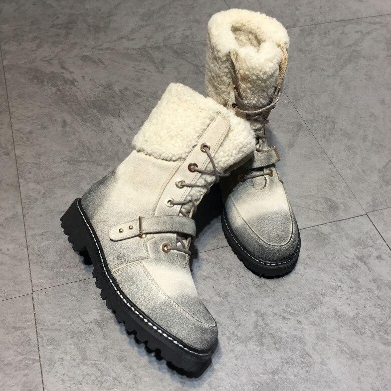 Sapato feminino/Брендовые женские сапоги, женская обувь на шнуровке спереди, Дизайнерские Сапоги до середины икры с ремешком и пряжкой, теплые зимн