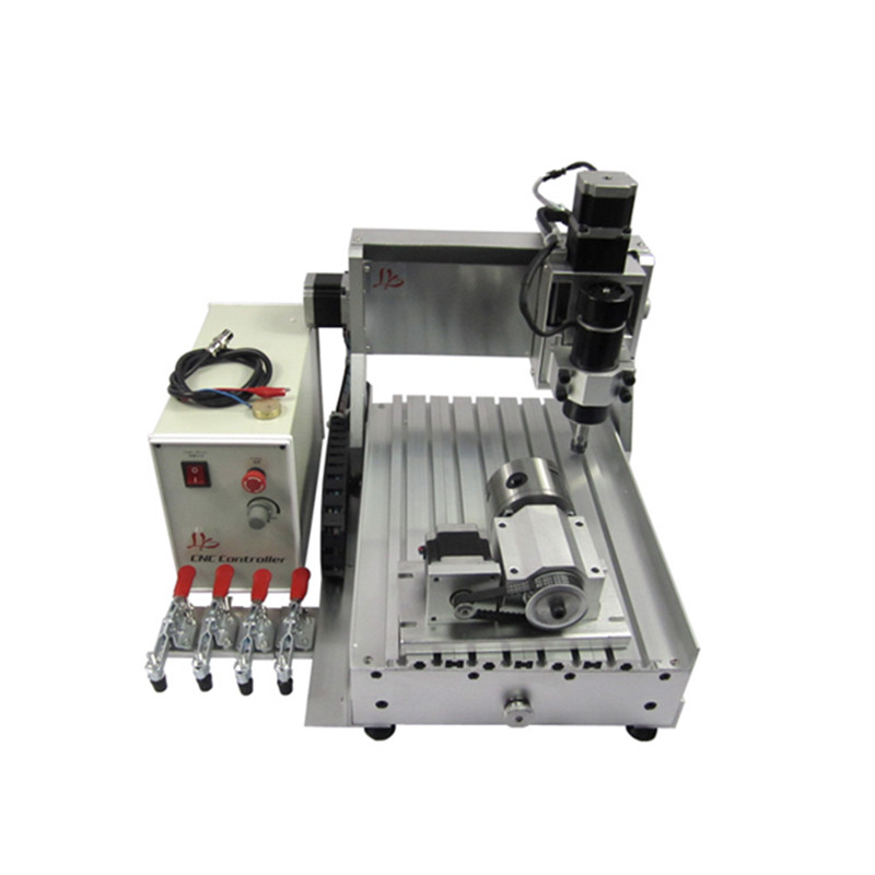 4axis cnc machine 3020 500W water cooling cnc spindle milling machine 300*200mm with ER11 collet4axis cnc machine 3020 500W water cooling cnc spindle milling machine 300*200mm with ER11 collet