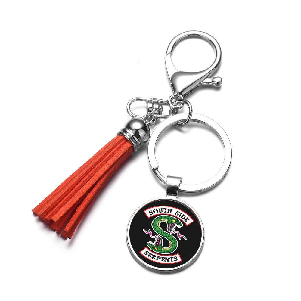 SONGDA 2018 ร้อนอเมริกันทีวี Riverdale พวงกุญแจจี้แก้ว Cabochon Handmade ผสม 8 สไตล์พวงกุญแจแหวนผู้ชายเครื่องประดับ Chaveiro
