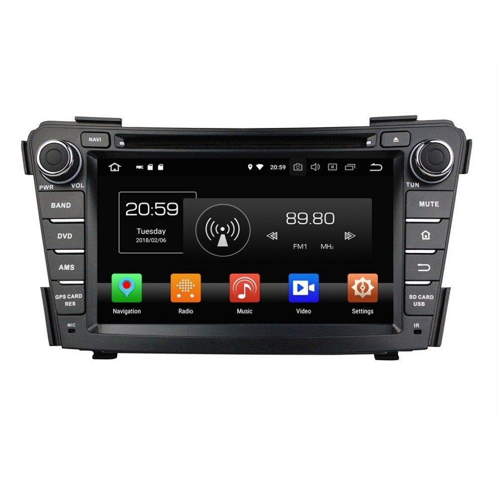 7 Android 8.0 Car Stereo Radio DVD GPS Multimedia Navigation for Hyundai I40 2011 2016 4GB RAM Bluetooth WIFI Mirror link