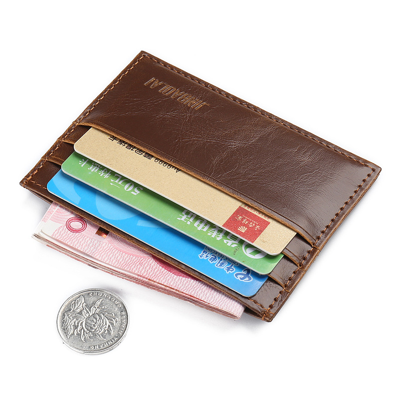 Fashion Vintage Retro Texture Mini ID Holders Business Credit Card Holder PU Leather Slim Bank Case Purse Wallet Free Shipping 2017 new top brand pu thin business id credit card holder wallets pocket case bank credit card package case card box porte carte