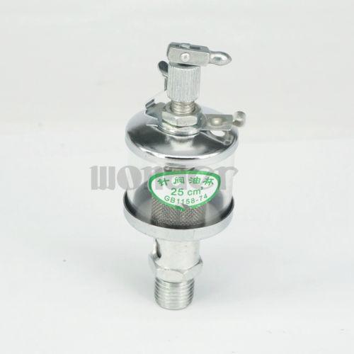 M14 X 1.5mm 25ml Glass Iron Sight Gravity Drip Feed Oiler Lubricator For Hit Miss Engine Steam