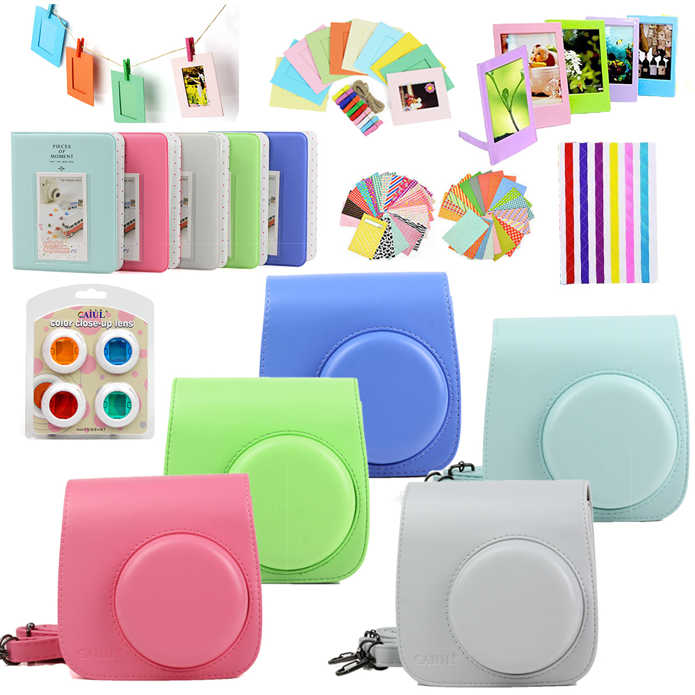 5 Colors Carrying Case Bag Cover PU Leather Protect Pouch   Album   Deluxe Bundle For Fujifilm Instax Mini 8 9 Instant Camera