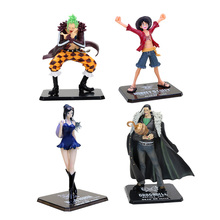 One Piece Figuarts zero Dressrosa Bartolomeo Luffy Rebecca Nico Sir Crocodile PVC Action Figures Collectible Model Toys 15cm