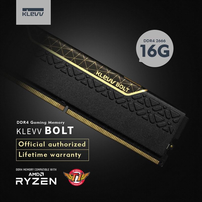 Klevv BOULON pc de bureau 16 GB DDR4 2400 2666 16G 2400 Mhz 2666 Mhz ram Module mémoire DDR4 Gaming momory