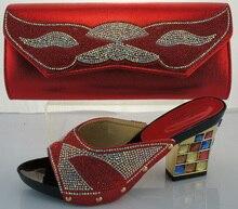 Frau Schuhe Und Tasche Mit Steinen Mode Pumpen Schuhe Und tasche Set Für Party African Italienische Schuhe, die Beutel-set ME2217