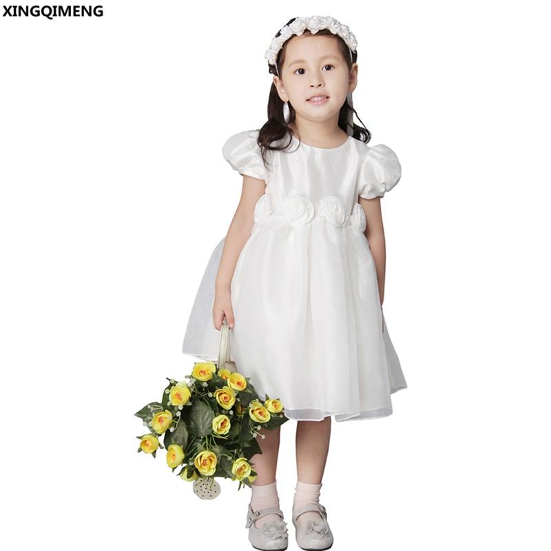 44bb82a48d6 Κομψά φορέματα κορίτσι λουλουδιών σύντομο μανίκι μανίκι beaded πρώτο ...