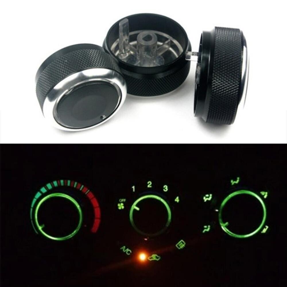 Para Chevrolet Lova AVEO 2006 a 2014 Air Condition Kno Car Air Condition Control de calor interruptor perilla aleación de aluminio estilo de coche