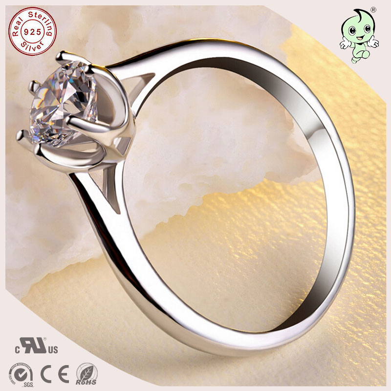 High Quality S925 Pure Silver Simple Design Finger Ring For Girls ...