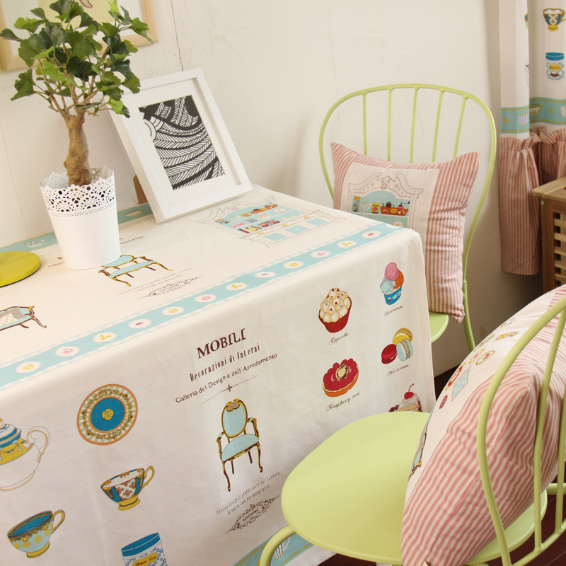 Cotton And Linen Cartoon Antependium, Universal Cover, Table Cloth, Bar  Supplies, Household