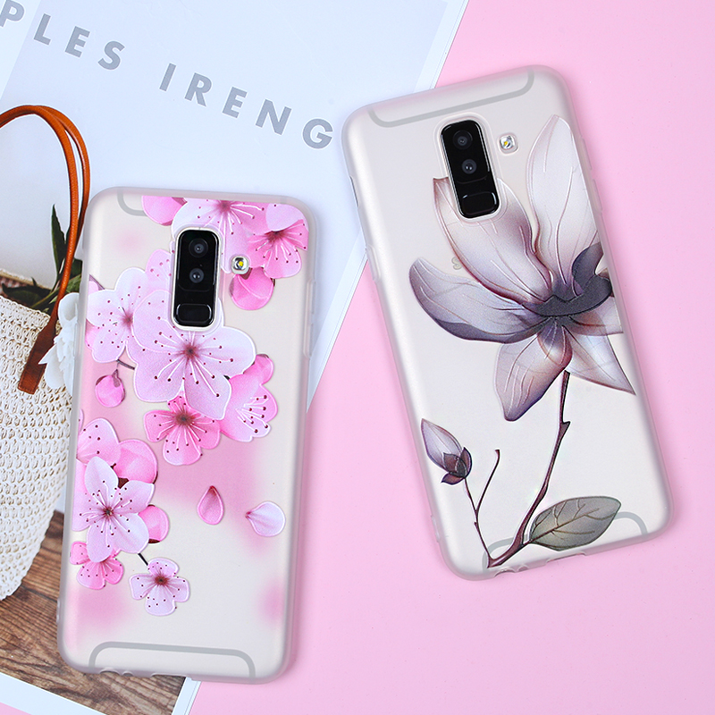 Image 4 - EIRMEON 3D Relief Case For Samsung Galaxy A6 Plus 2018 S8 S7 Edge S9 Plus A5 2017 J2 J3 J5 J7 A3 A5 A7 2016 J6 2018 Floral Cases-in Fitted Cases from Cellphones & Telecommunications