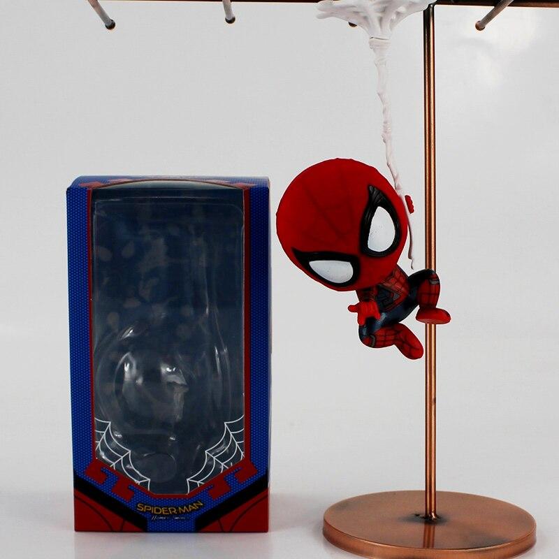 8 стилей версии человек паук выпускников Человек-паук мини ПВХ Цифры Игрушечные лошадки автомобиль украшение дома