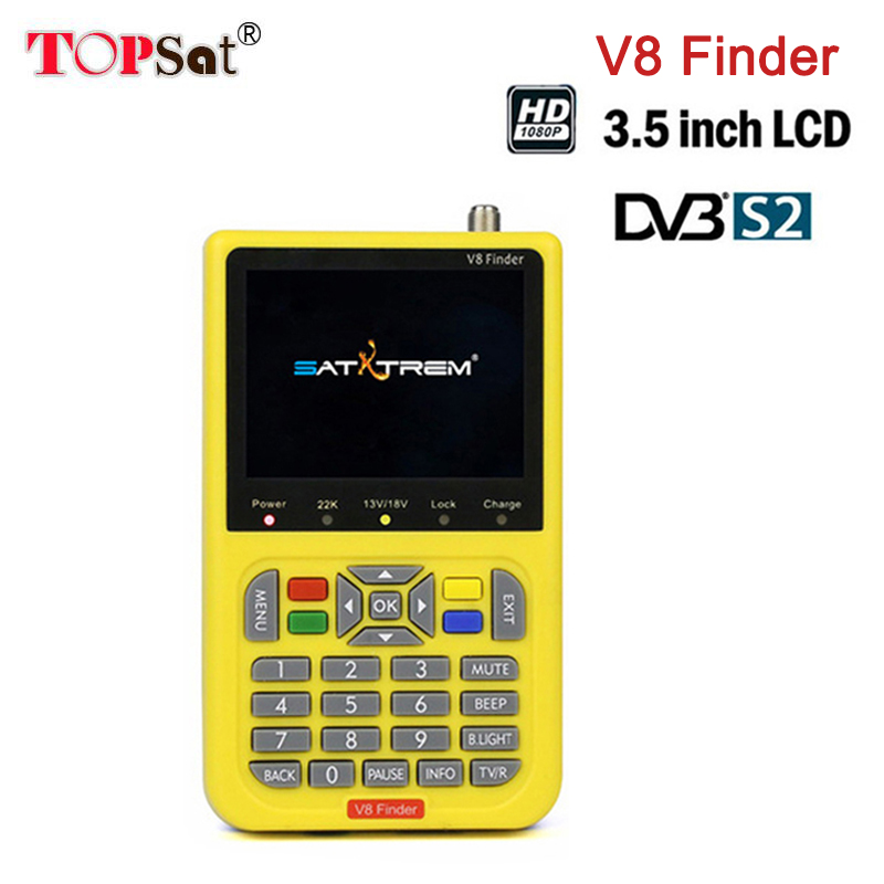 Digital Satellite Finder Meter V8 Finder HD LCD DVB-S2 SatFinder MPEG2 MPEG4 mit 3000mA Batterie Kostenloser V8 Finder FTA Sat finder
