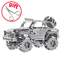 2017 ICONX Piececool 3D Metal Puzzle 3D Models Brinquedos Car Kids Toy Puzzle P078 S SUV