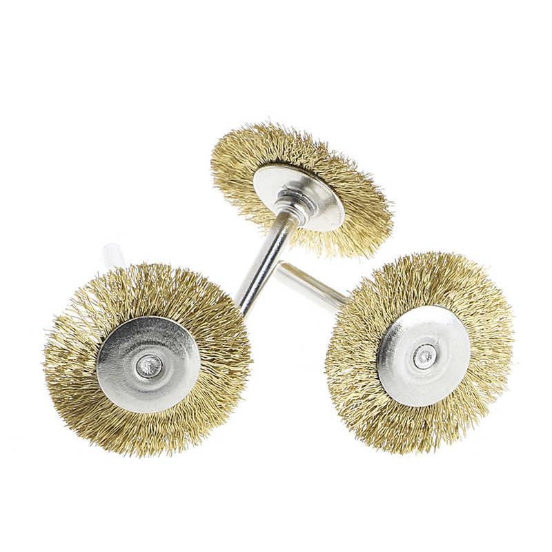 9 ピース鋼ブラシワイヤーホイールブラシダイグラインダー回転工具電動工具彫刻