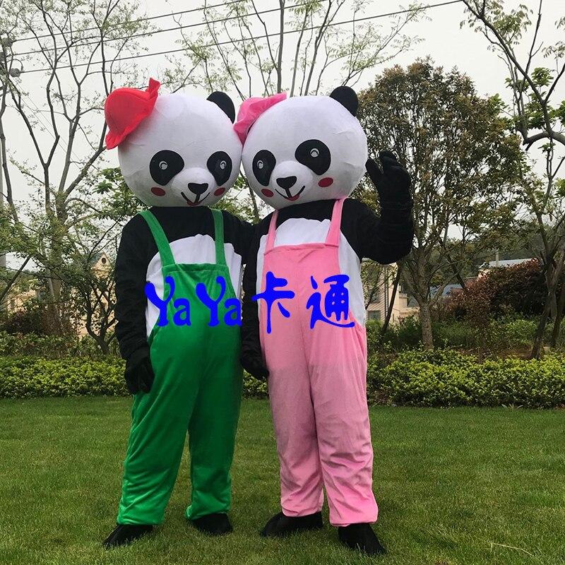 Costume de mascotte Panda géant chinois mascotte Cosplay de noël Costume de mascotte Animal Panda pour adulte