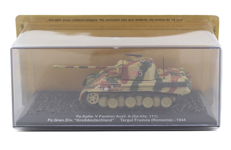 1/72 Germany Pz.Kpfw.V Panther Ausf.A (Sd.Kfz.171) tank model Alloy collection model Holiday gift