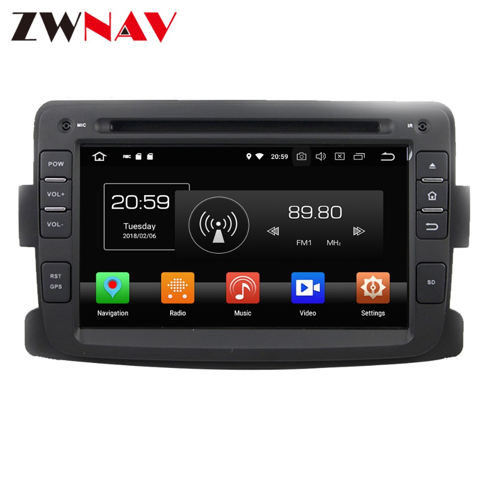 Android 8 4+32G Car DVD Player GPS navigation For Renault Duster 2012 2013 head unit multimedia player tape recorder цены