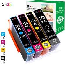 SHIZHI Substituição do Cartucho de Tinta Compatível para HP 178 XL HP 178xl Photosmart 7515 5515 B109a B010b B209 B210 3070A 3520 7510