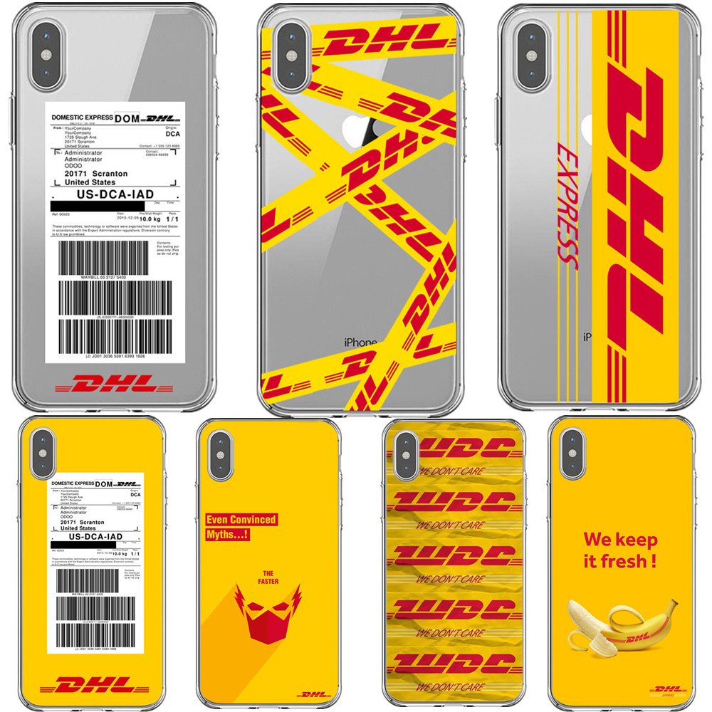 Phone Cases Soft Transparent Yellow Design Luxury Logo DHL Cover Case For IPhone 7 8Plus XS MAX 6 6SPlus 5s 7 8 SE X XR