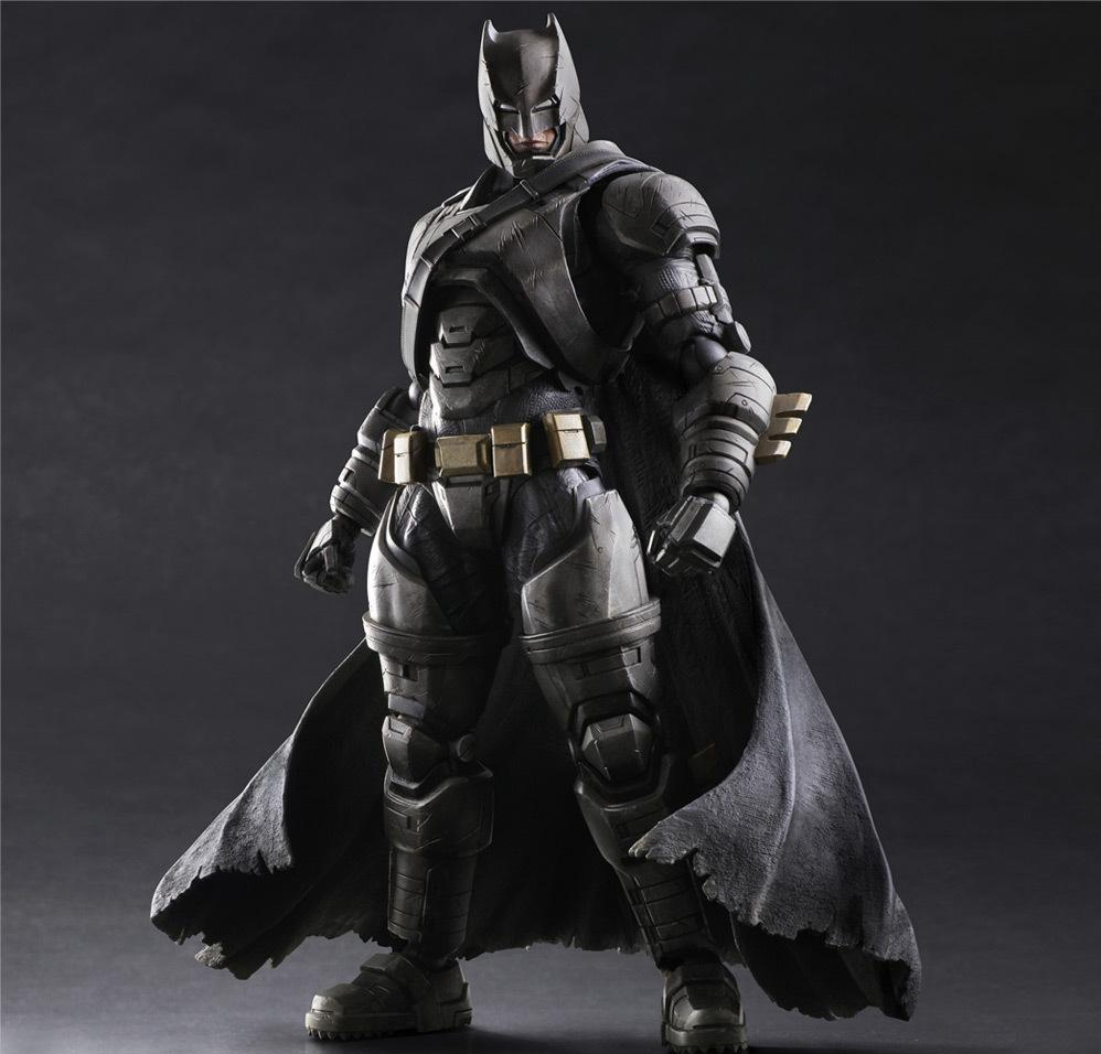 Play Arts Kai Batman Action Figures Dawn of Justice Armor NO3 PVC Toys 270mm Movie Model Heavily-armored Bat Man Playarts Kai play arts kai batman v superman dawn of justice no 3 armored batman pvc action figure collectible model toy 25cm