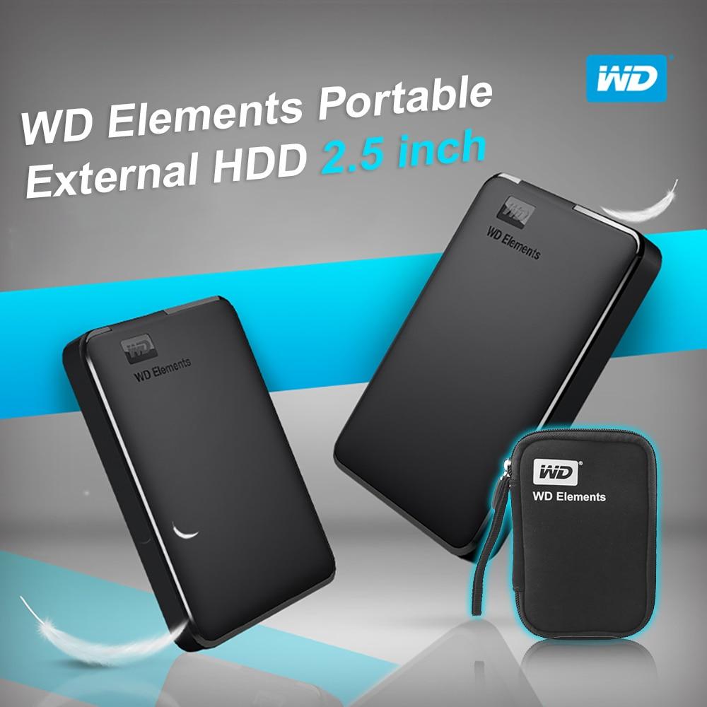 Western Digital WD Elements Portable HDD External hdd 1TB 2TB HDD 2 5 USB 3 0