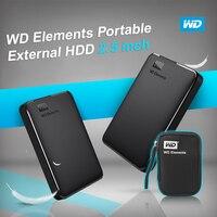 Western Digital WD Elements Portable HDD External hdd 1TB 2TB HDD 2.5 USB 3.0 Hard Drive Disk 3TB 4TB Original for PC laptop