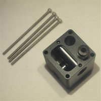 Ultimaker 2 UM2 3D printer parts all metal aluminum alloy print head for 1.75/3mm metal cross slide kit 6mm